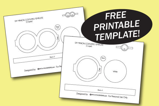 photo relating to Minion Template Printable titled Do-it-yourself Despicable Me Halloween Costumes Vacation spot of Tea Layouts