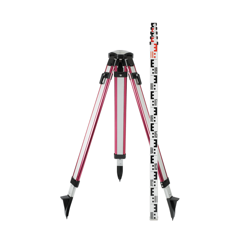 Pro Tripod and Staff Combo: Domed & E Pattern