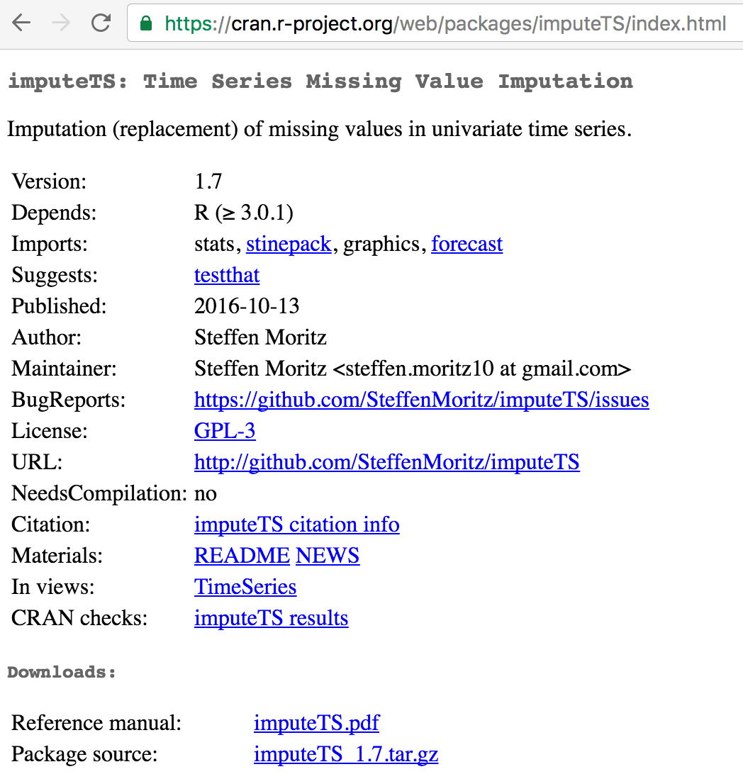 Version 1 7 of imputeTS R package released | SPOTSeven Lab