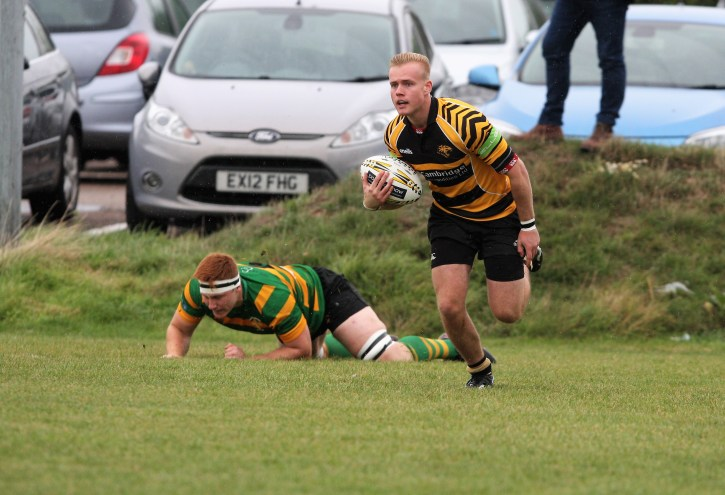 Luke Turner opens the scoring for Ely Tigers