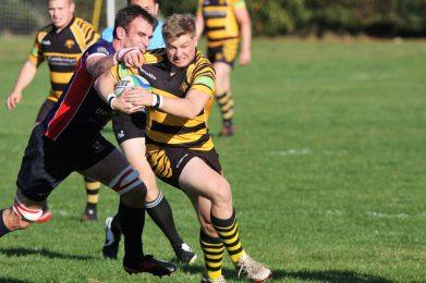 James Buckland under pressure