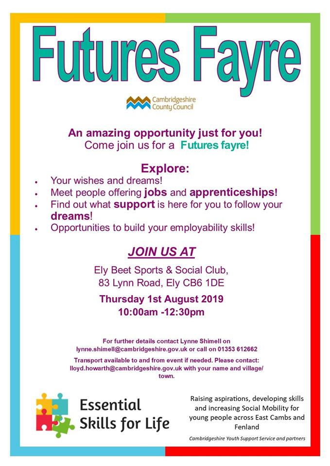 Ely Futures Fayre For 14 17 Year Olds Spotted In Ely