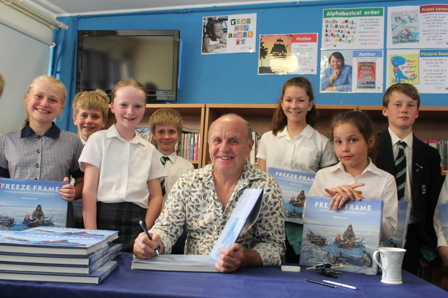 Wildlife cameraman's visit goes down a storm at King's Ely Junior
