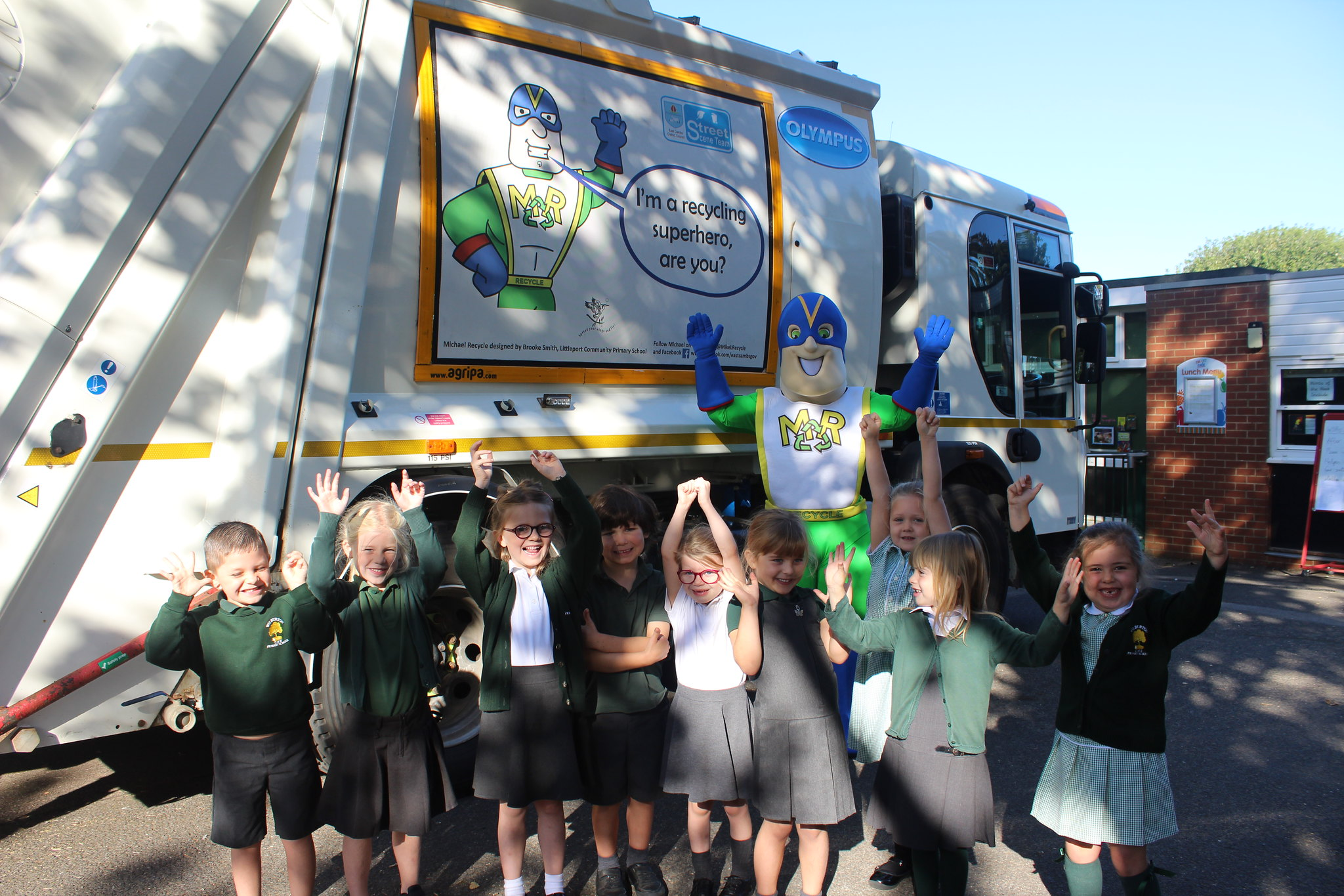 Michael Spreads The Recycling Message Around Schools