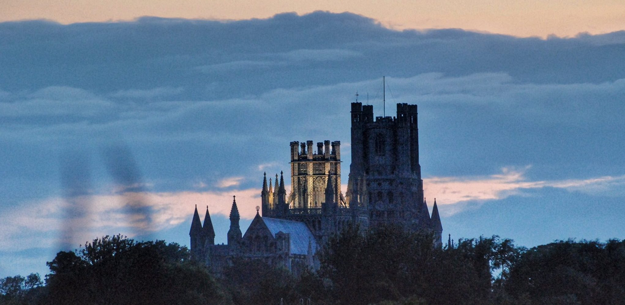 Ely Cathedral's Octagon Tower Turns Orange for World Alzheimer's Day