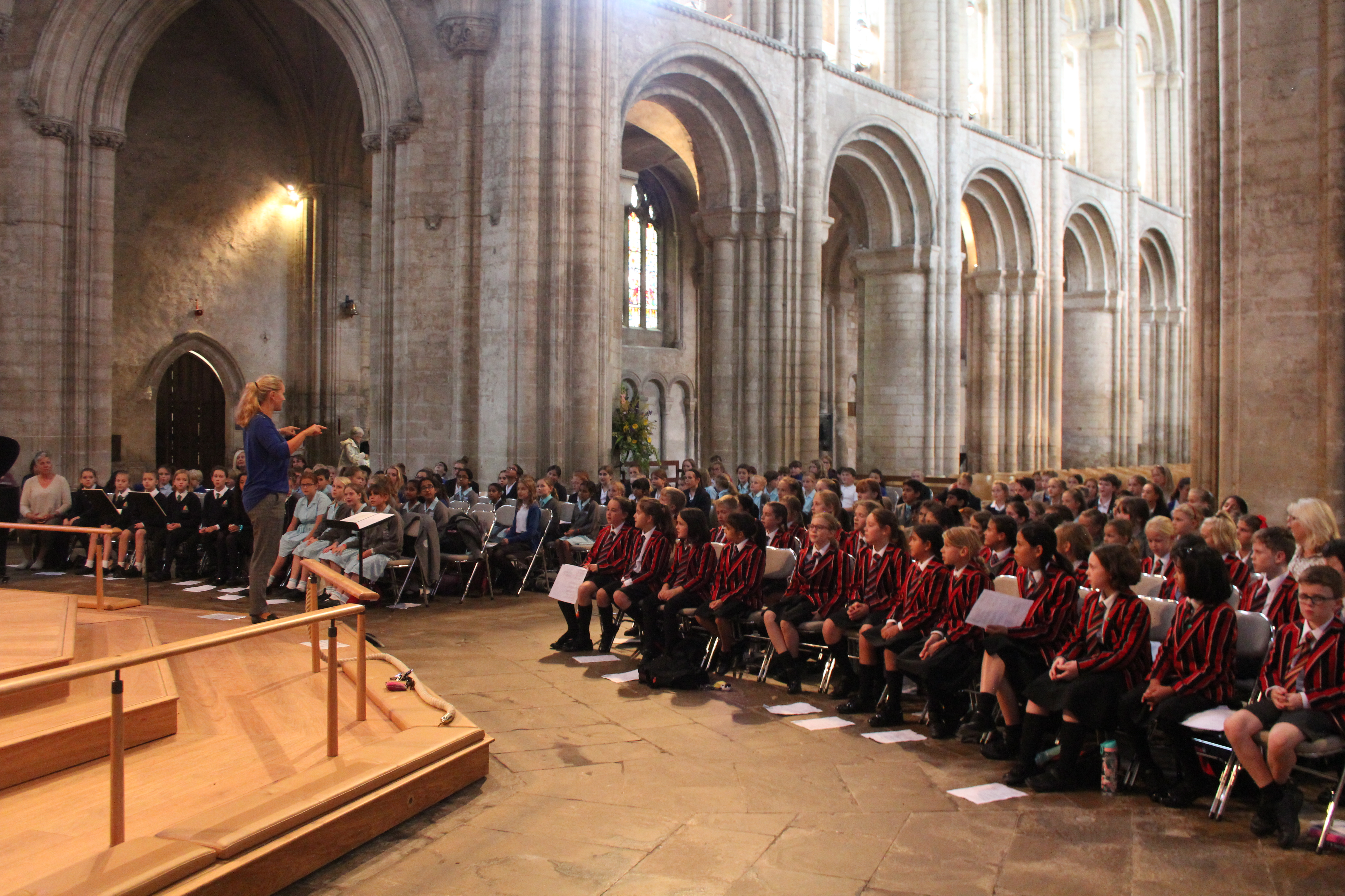 Pupils have their voices well and truly heard at King's Ely Choral Day