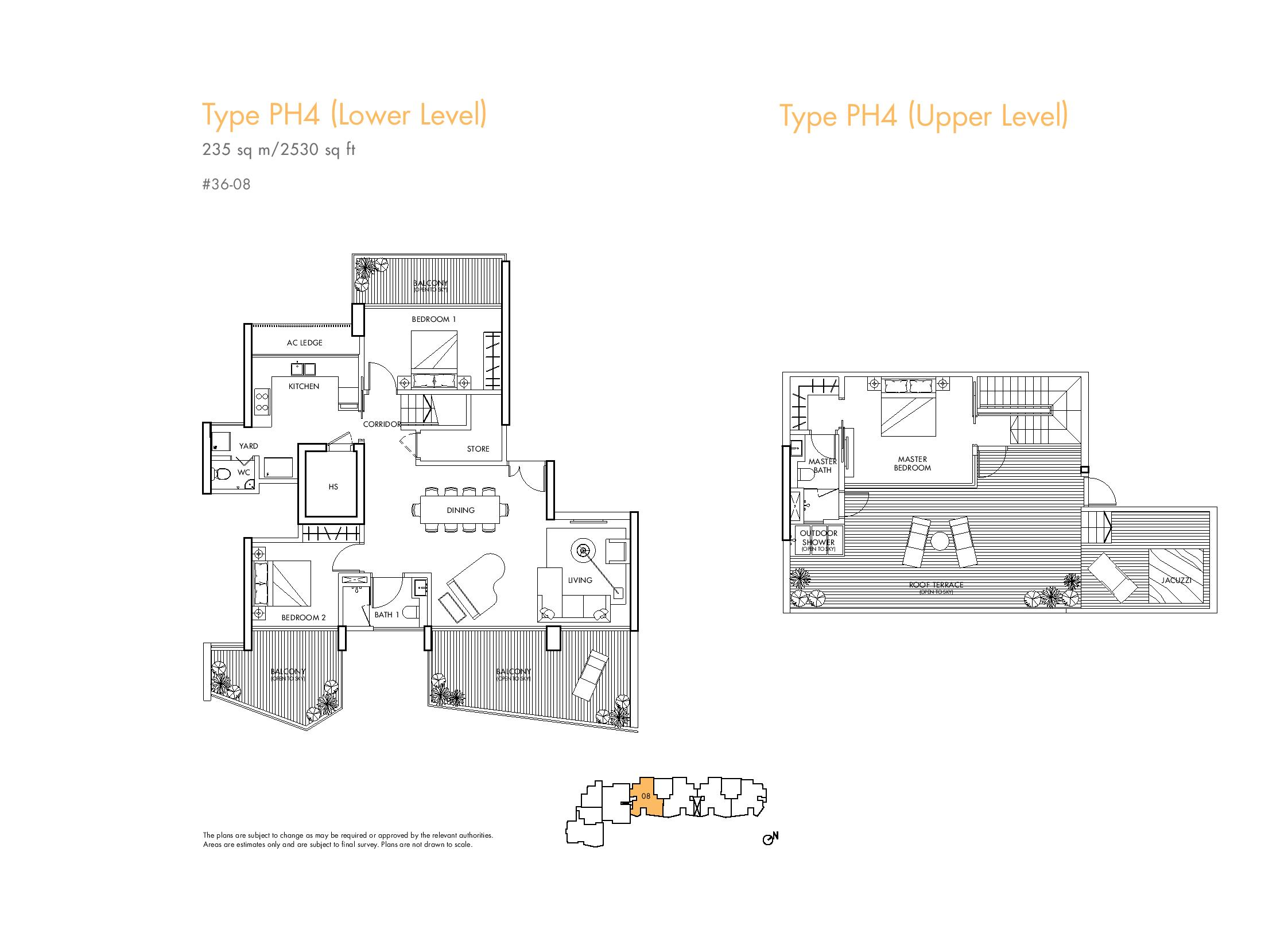 Spottiswoode Residences 3 Bedroom Penthouse Type PH4 Floor Plans