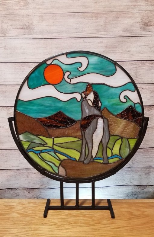 Howling Wolf, Iron Range. Stained Glass