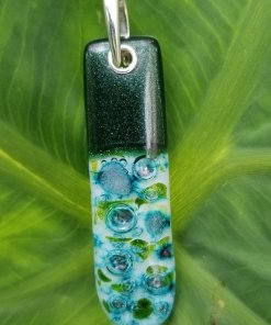 Blue Water and Aventurine Pendant