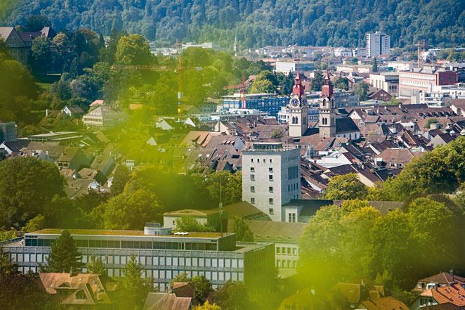 Stadt Winterthur Panorama, Sicht auf Winterthur