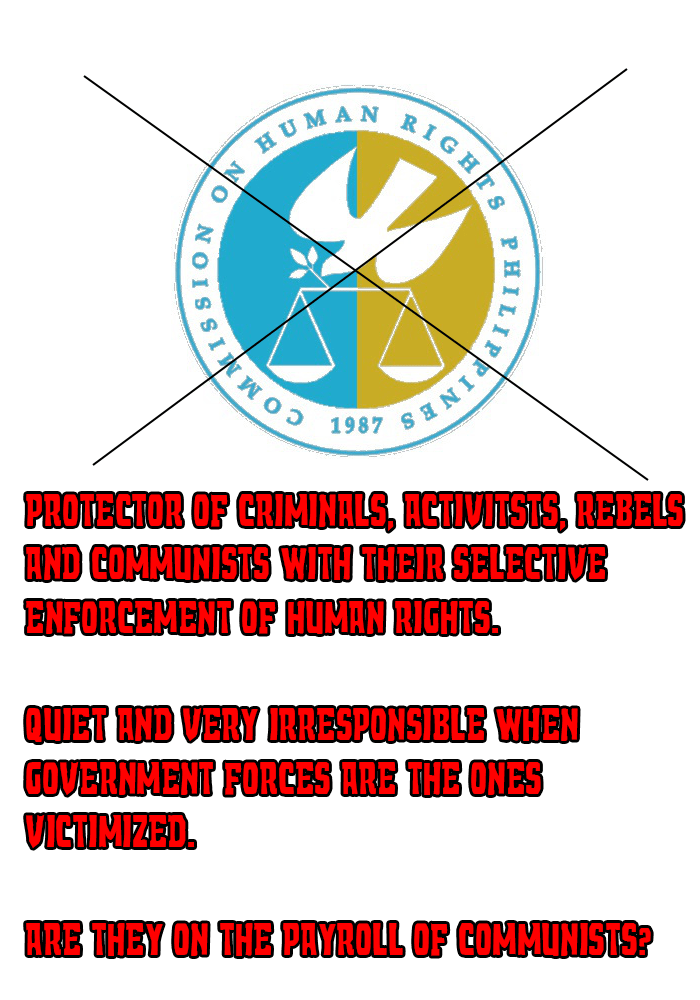 Proof that the Philippine Commission of Human Rights have one boss – COMMUNISTS!
