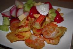 Tempura seafood na kolację