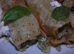 Cannelloni z brokułem i kalafiorem