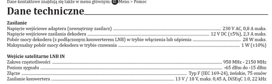 instrukcja dekodera HD6000