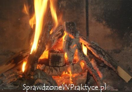 Brykiet z węgla brunatnego w kominku