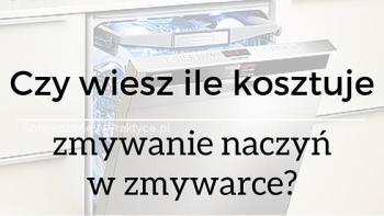 Ile kosztuje zmywanie naczyń w zmywarce ?