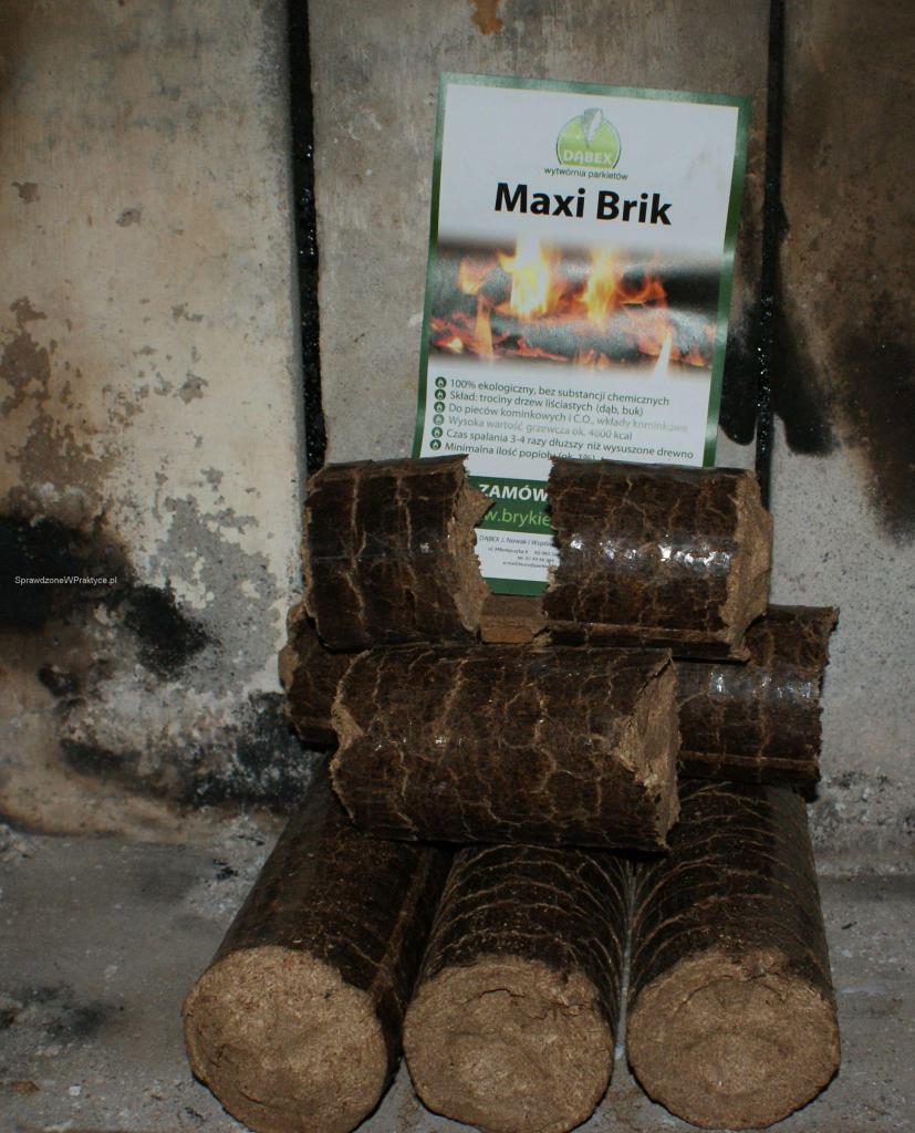 MAxi Brik w kominku