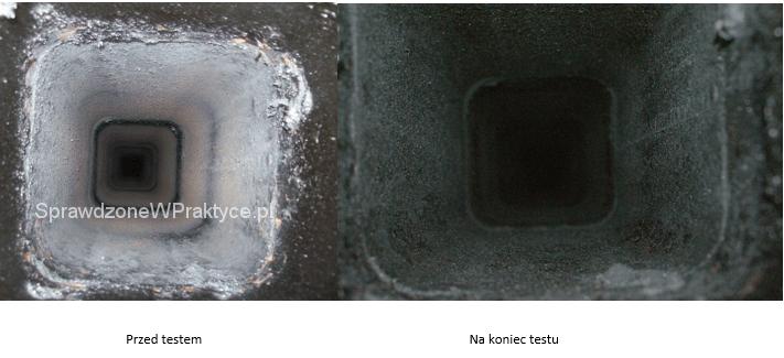 wygląd komina po zastosowaniu preparatu SADPAL