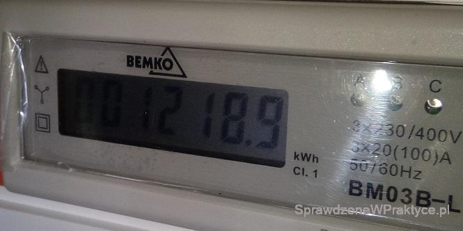 Licznik energii - ogrzewanie elektryczne