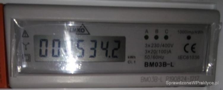 Licznik energii ogrzewanie 25.10.2020