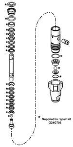 Lower Pump Repair Kit (G24G705) from SprayDirect.co.uk