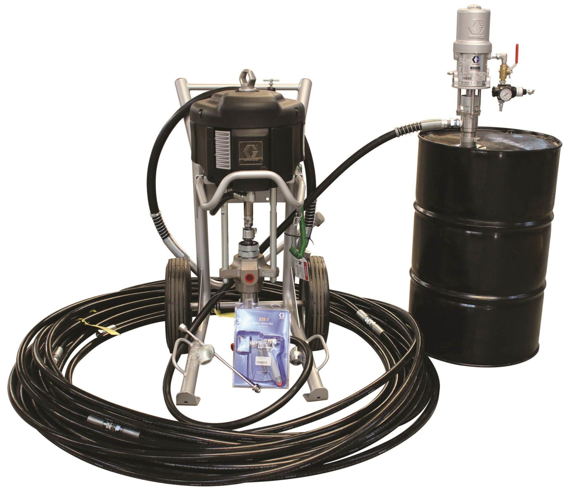 hight resolution of graco complete king pump xtreme airless sprayer package xtr700 gun 310 hose monarch pump