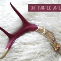 DIY: Painted Antlers