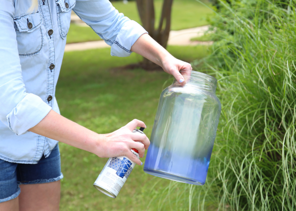 Diy Ombr Drink Dispenser Spray Paint & Chardonnay