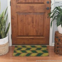 DIY: Geometric Painted Door Mat