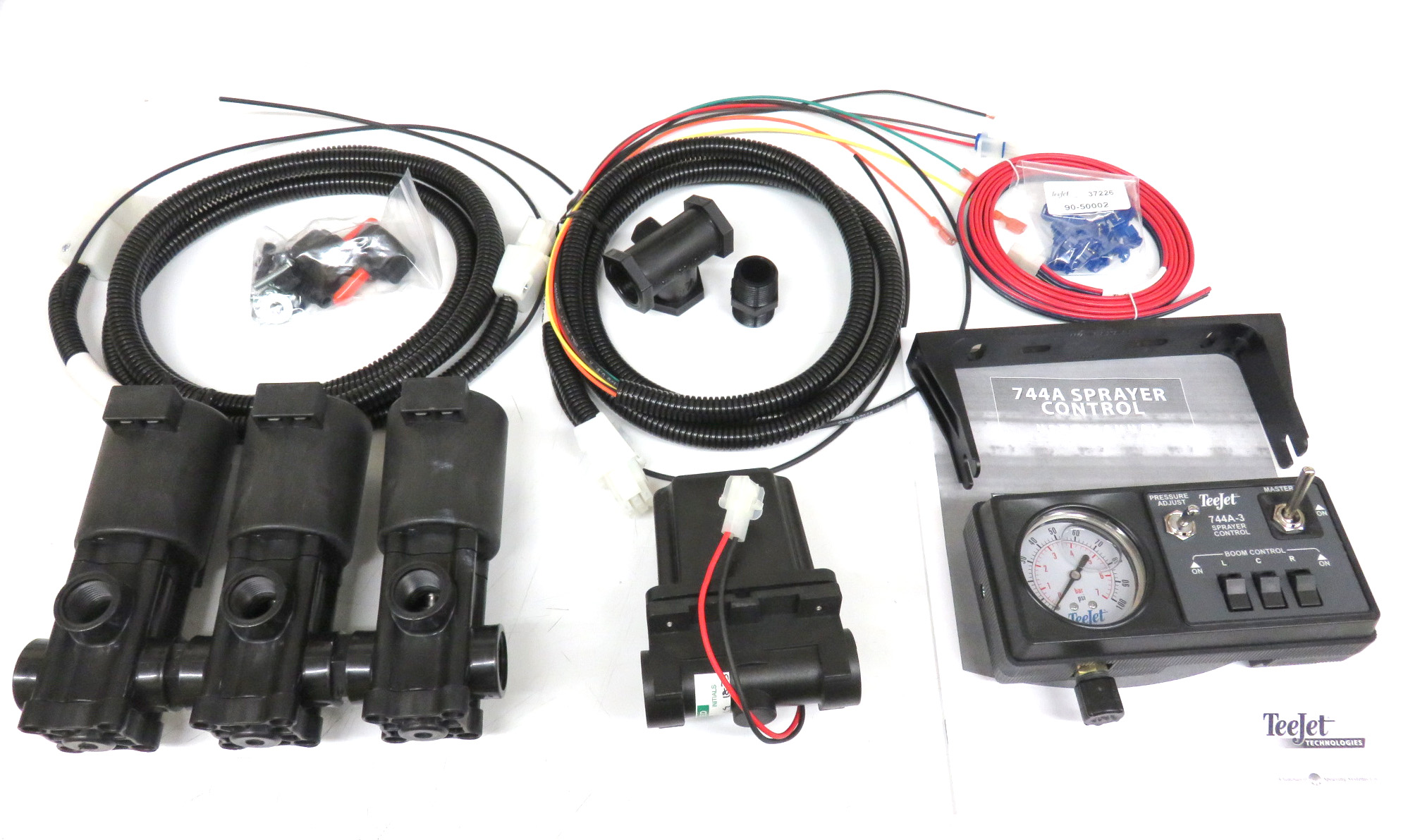 hight resolution of 90 50177 744a kit w 100 psi gauge solenoid harness 3 4