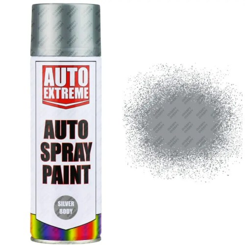 Silver Body Gloss Spray Paint 400ml