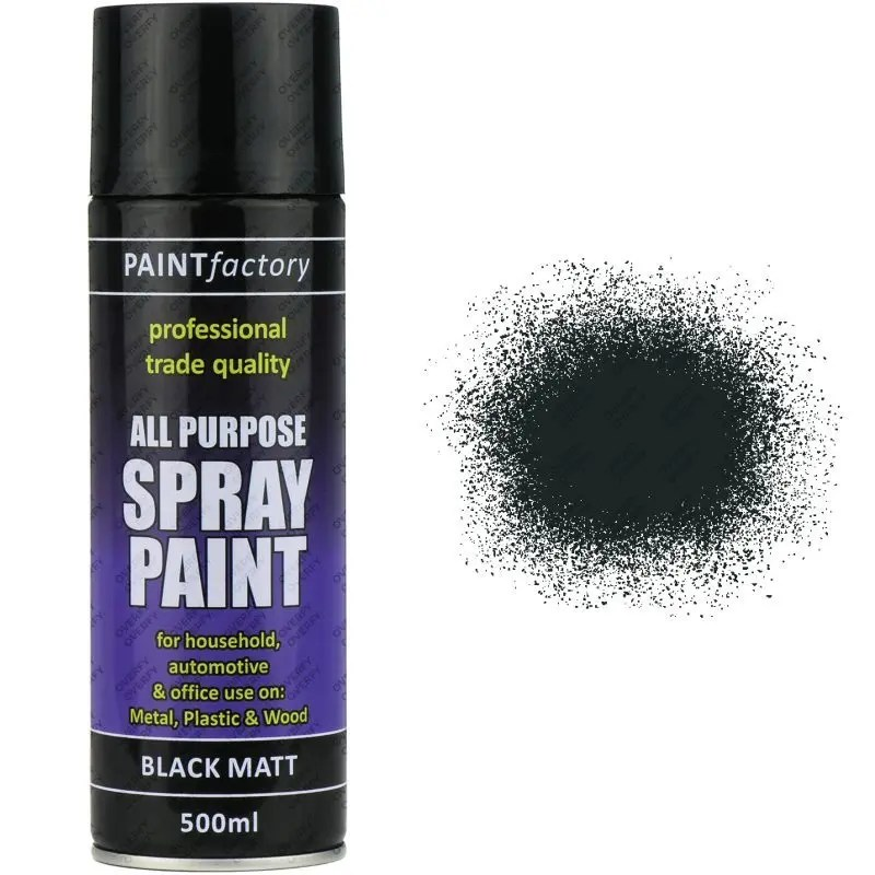 Black Matt Spray Paint 400ml All Purpose