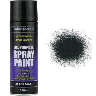 Black Matt Spray Paint 400ml All Purpose