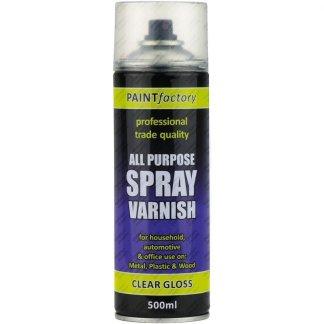 Clear Varnish Spray Paint Gloss All Purpose 400ml