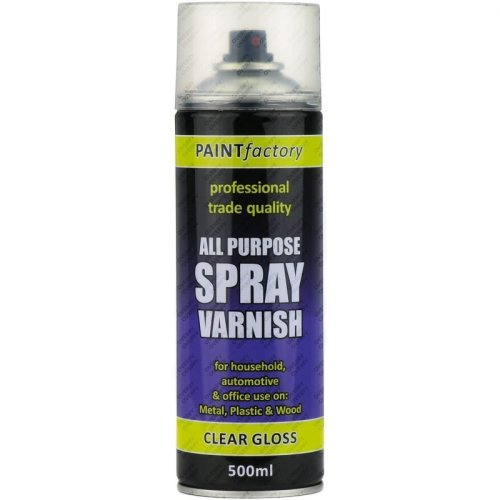 Clear Varnish Spray Paint Gloss All Purpose 400ml