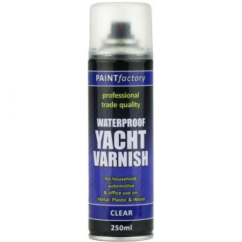 Clear Yacht Varnish Spray Paint All Purpose 250ml