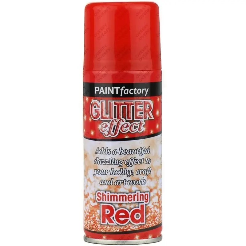 Red Glitter Spray Paint 200ml – Sprayster