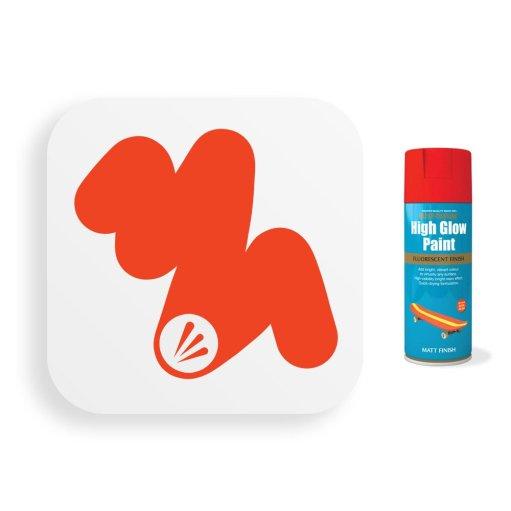 Neon-Red-Orange-Spray-Paint-Fluorescent-400ml