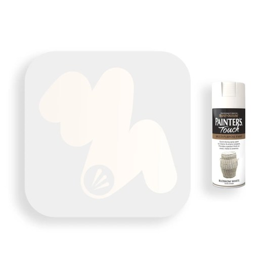 Rust-Oleum-Blossom-White-Satin-Spray-Paint-400ml-Painters-Touch-Swatch