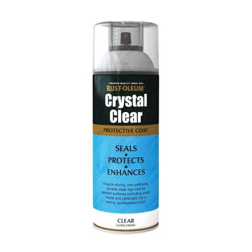 Rust-Oleum Crystal Clear Gloss Lacquer Top Coat 400ml