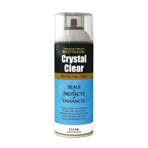 Rust-Oleum Crystal Clear Semi Gloss Lacquer Top Coat 400ml