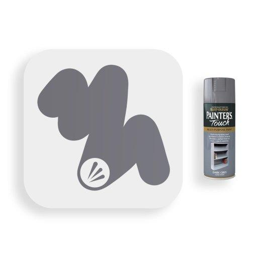 Rust-Oleum-Dark-Grey-Gloss-Spray-Paint-400ml-Painters-Touch