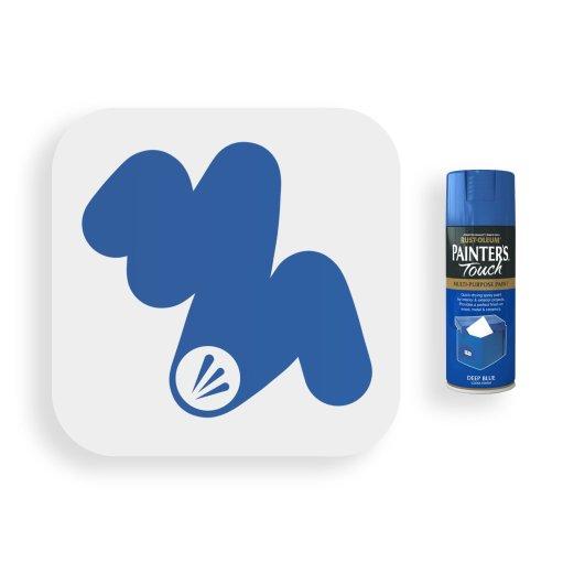Rust-Oleum-Deep-Blue-Gloss-Spray-Paint-400ml-Painters-Touch-Swatch
