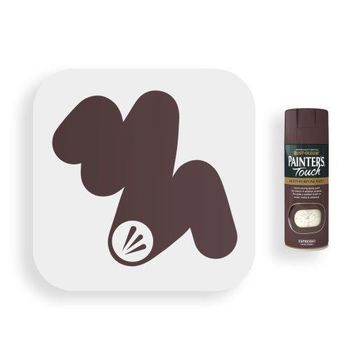 Rust-Oleum-Espresso-Brown-Satin-Spray-Paint-400ml-Painters-Touch-Swatch