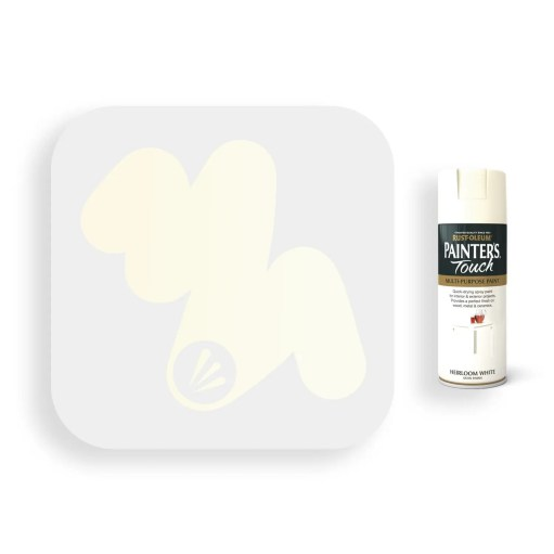 Rust-Oleum-Heirloom-White-Satin-Spray-Paint-400ml-Painters-Touch-Swatch