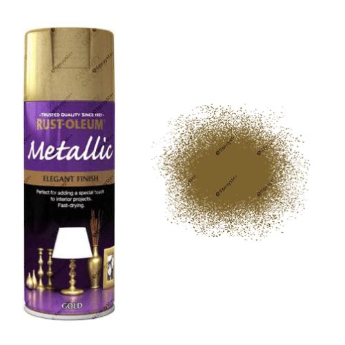 Rust-Oleum Multi-Purpose Metallic Gold Spray Paint 400ml
