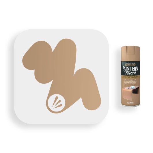 Rust-Oleum-Nutmeg-Brown-Satin-Spray-Paint-400ml-Painters-Touch-Swatch