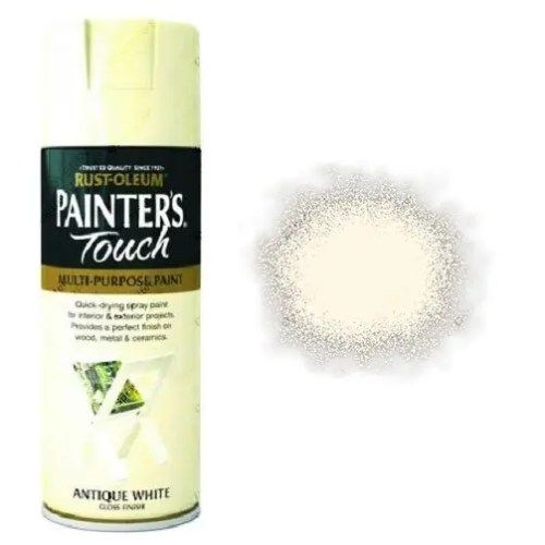 Rust-Oleum Painter's Touch Antique White Spray Paint Gloss 400ml