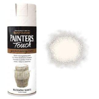 Rust-Oleum Painter's Touch Blossom White Spray Paint Satin 400ml