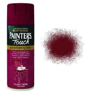 Rust-Oleum Painter's Touch Claret Wine Red Spray Paint Satin 400ml